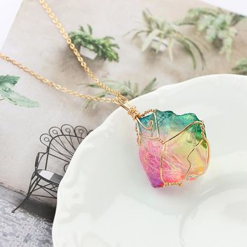 Rainbow Crystal Necklace