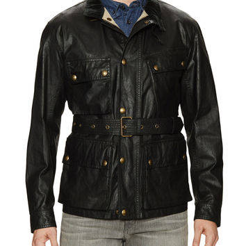 Belstaff Men's Waxed Cotton Sportmaster Jacket - Open Miscellaneous