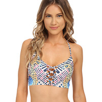 Mara Hoffman Reversible Lattice Weave Halter Top