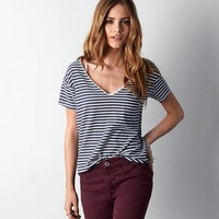 AEO Favorite Striped Pocket T-Shirt
