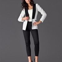Figl Two-Tone Blazer - Total Look for Her by Figl - Modnique.com