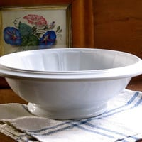 Antique Ironstone Mixing Bowl, Edwards, England, Serving Dish, White Iron Stone, Rustic Farmhouse Decor