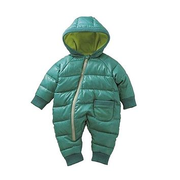 Baby Rompers Winter Thick Cotton Boys Costume Girls Warm Clothes Kid Jumpsuit Children Outerwear Baby Wear
