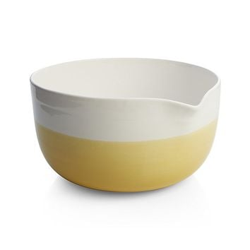 Yellow Dip Mixing Bowl with Spout