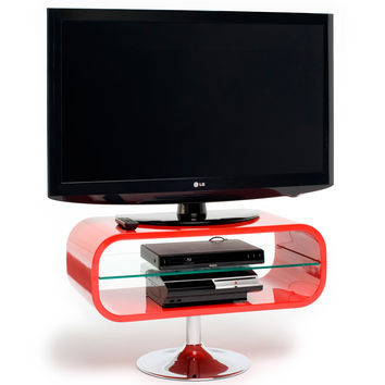 """Opod 31"""" TV Stand Red Chrome Base"""