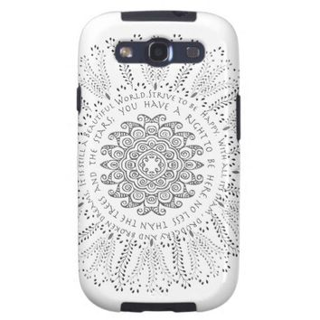 Desiderata with Paisley Samsung Galaxy SIII Covers from Zazzle.com