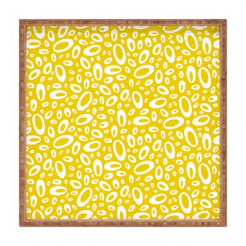 Heather Dutton Molecular Yellow Square Tray