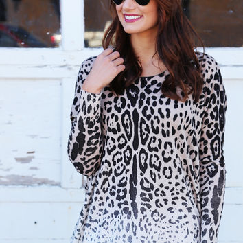 Back To You Cheetah Lightweight Knit