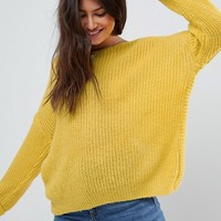 ASOS Chunky Jumper Twist Back at asos.com