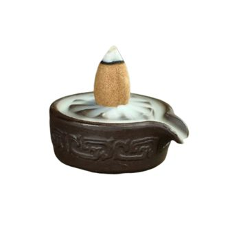 Mini Ceramic Bowl Backflow Incense Burner