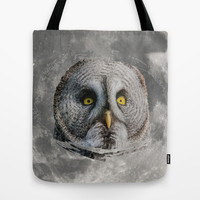 MOON OWL Tote Bag by Catspaws