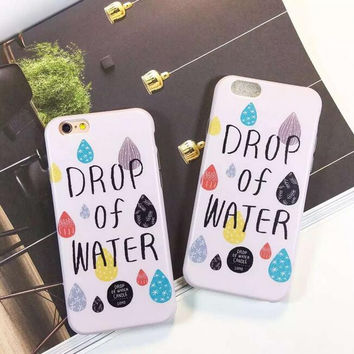 Drop of water phone case for iphone 6 6s 6 plus 6s plus + Nice gift box 080902