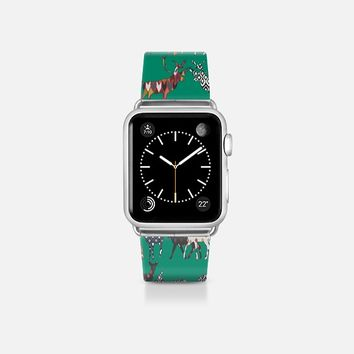 peacock green spice deer apple watch band Apple Watch Band (38mm)  by Sharon Turner | Casetify