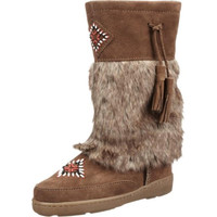 Minnetonka Womens Suede Mid-Calf Casual Boots
