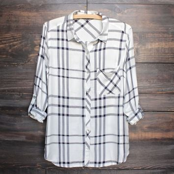 city strut plaid flannel shirt (more colors)
