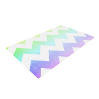 "Catherine McDonald ""Water Color"" Chevron Woven Area Rug"