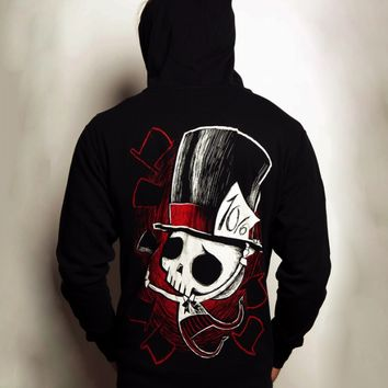 Akumu Mad Hatter II Hoodie :: VampireFreaks Store :: Gothic Clothing, Cyber-goth, punk, metal, alternative, rave, freak fashions