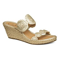 Shelby Wedge Sandal in Platinum by Jack Rogers - FINAL SALE