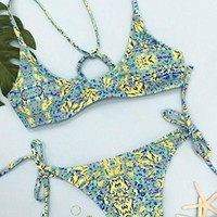 Cupshe Field Time Fresh Bikini Set