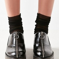 Tanis Zip-Front Oxford | Urban Outfitters