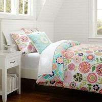 Seaside Floral Duvet + Sham