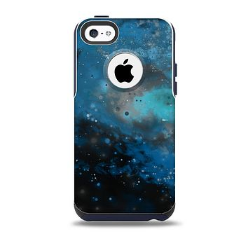 The Blue and Teal Painted UniverseSkin for the iPhone 5c OtterBox Commuter Case