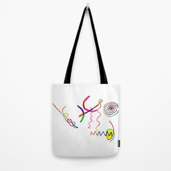 Funky Way Doodle Tote Bag by Azima