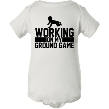 """Working on Ground Game"" Creeper Baby Onesuit"