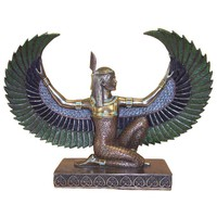 Maat Kneeling with Wings Upturned Egyptian Statue 6H