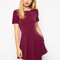 ASOS Skort Playsuit - Wine