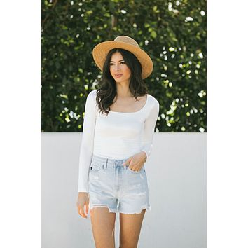 Camila High Rise Denim Shorts