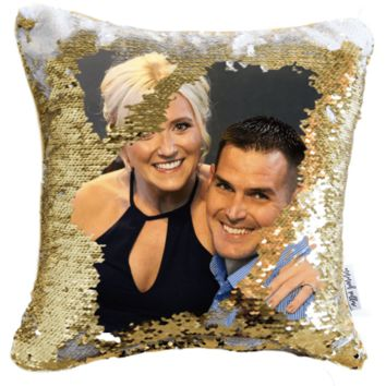 Profile Pillow: We Print Your FB Profile on a Magic Sequin Pillow | COVER ONLY (Inserts Sold Separately)