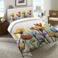 Flowers and Ferns Duvet Cover