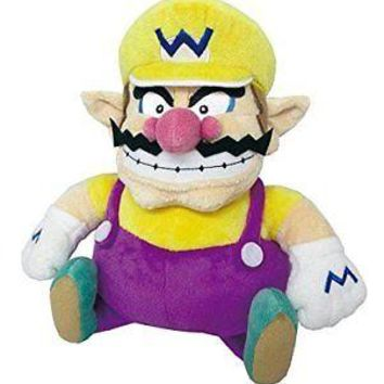 """Little Buddy Super Mario All Star Collection Wario 10"""" Stuffed Plush Authentic"""