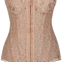 Daisy Corsets Top Drawer Nude Underwire Sheer Lace Steel Boned Corset
