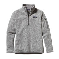 Patagonia Women's Better Sweater® Quarter Zip Fleece | Black