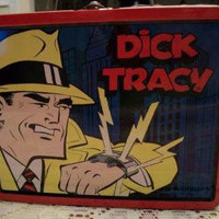 Red Dick Tracy Tin Lunch Box Police Detective Comic Strip