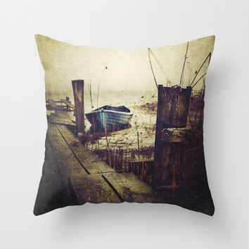 Rugged fisherman Throw Pillow by HappyMelvin