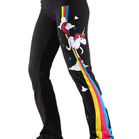 Unicorn Rainbow Yoga Pants - Black,