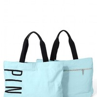 Victoria's Secret Pastel Blue Zip Tote