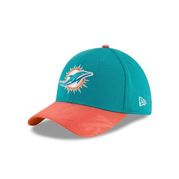 Miami Dolphins New Era Men's NFL Sideline 3930 Flex Fit Hat M/L