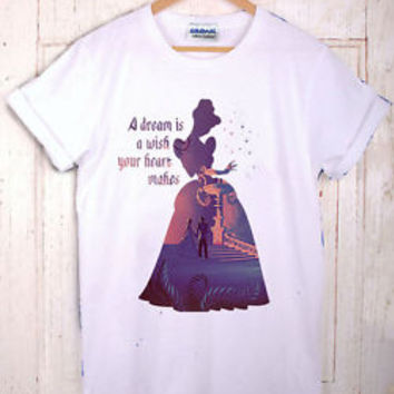 Disney Princess Cinderella Dream Quote T Shirt Tumblr Unisex Top New