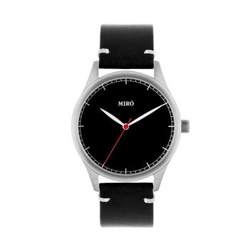 Miró Watches — Black Face Black Strap