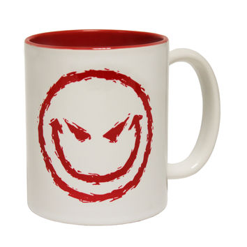 123t USA Evil Smiley Face Funny Mug