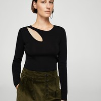 Cut-out knitted sweater - Women | MANGO USA