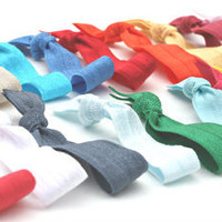 Stretchy Hair Band (20) Grab Bag - Fabric Bracelets - Emi Jay Like Yoga Hair Ties - Women's Hair Accessories - Elastic Ponytail Holder
