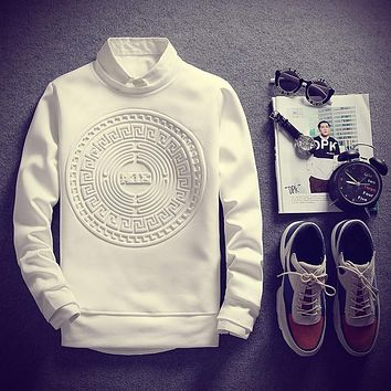 Cool Fashion Printed Hoodies - White