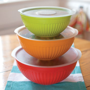 Prep n' Serve Covered Bowls 6-Piece Set