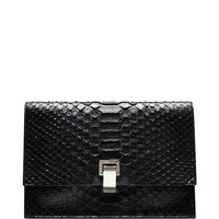 The Lunch Bag Small Python Clutch