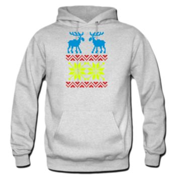 Moose Pattern Christmas Sweater HOODIE